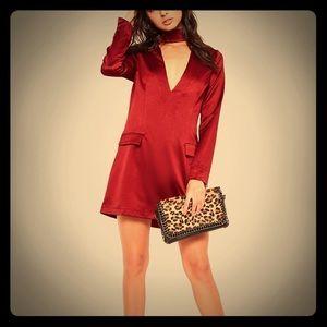 Burgundy Missguided Dress